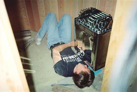 Sauna construction for Basement sauna kit